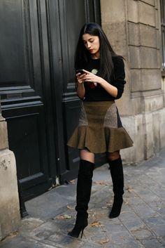 Street Style: Caroline Issa outside Maison Martin Margiela wearing Stella McCartney x