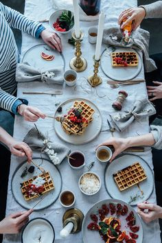 glutenfree blueberry waffles and a gathering in our new studio
