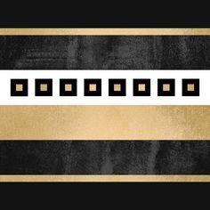 Poster | TREASURE / BLACK & GOLD von Elisabeth Fredriksson