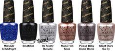 OPI - 2013 Mariah Carey Holiday Collection, Liquid Sand Shades (part 4/4)