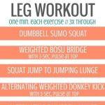 Burn Boot Camp 15-Minute Leg Workout