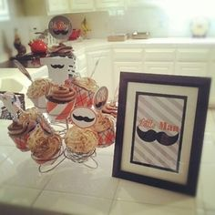 Mustache Baby Shower Printables!