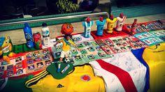 Más de 2,000 figuritas con futbolistas que desfilaron por la Copa América desde 1995 a 2011 / #sports #soccer #fútbol #colección #soccerfan