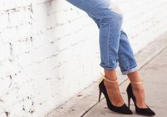 e4a522e81c75 rolled up relaxed jeans + heels