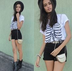 Black and bones (by Gizele Oliveira) http://lookbook.nu/look/3834063-black-and-bones
