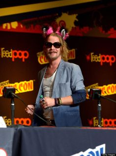Macaulay Culkin made a rare public appearance at day two of New York's Comic Con on Oct. Macaulay Culkin, Celebrity Skin, Tumblr, S Quote, Celebs, Celebrities, Facial Hair, Guys And Girls, Role Models