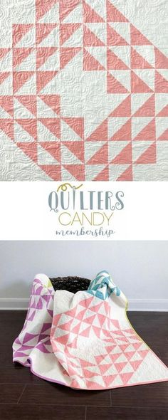 beginner quilter, small sewing project, modern geometric quilt pattern, quilting membership, quilt pattern membership, get this pattern for free when you complete projects from the membership Quilting Tips, Quilting Tutorials, Quilting Projects, Quilting Designs, Baby Quilt Patterns, Modern Quilt Patterns, Half Square Triangle Quilts Pattern, Geometric Quilt, Small Sewing Projects
