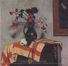 Felix Vallotton, Still Life Flowers oil painting reproduction