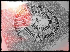 Proyectos de caligrafía de Peyi.Calligraphy projects by Peyi.