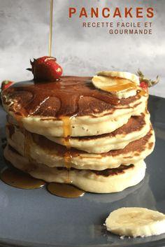 American-style pancakes, soft and delicious! Greek Yogurt Pancakes, Coconut Flour Pancakes, Nutella Pancakes, Tasty Pancakes, Best Pancake Recipe, Pancake Recipes, Pancake Calories, Keto, Cream Cheese Recipes