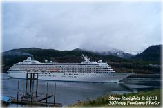 The First Cruise Ship of the 2013 season - the Crystal Symphony as she arrived in Ketchikan Saturday morning. Photo by Steve Speights