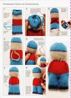 Baby Knitting Patterns Animals Cute lil knitted teddy bear in a sweater. Animal comfort dolls pattern by p k olson – Artofit Netter lil gestrickter Teddybär in einer Strickjacke. Knitted Doll Patterns, Baby Knitting Patterns, Crochet Dolls, Crochet Patterns, Knit Crochet, Knitted Dolls Free, Knitting Designs, Addi Knitting Machine, Loom Knitting