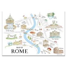 Map of Rome Print - Alice Tait Shop
