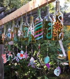 painted bottle chimes