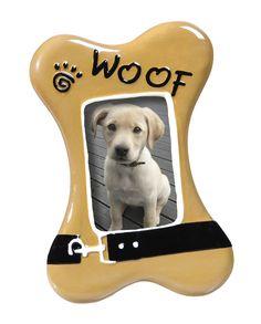 Ceramic Dog Picture Frame
