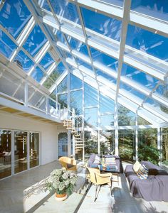 wintergraten(o: Roof Architecture, Sustainable Architecture, Glass Green House, Skylight Glass, Glass Conservatory, Building Foundation, Greenhouse Shed, Enclosed Patio, House In Nature