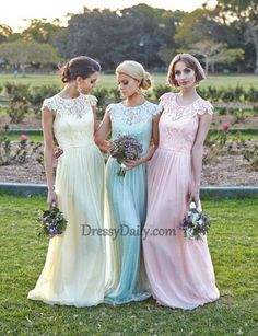 I like this - Elegant Floral chiffon lace with short sleeves modest long Pastel bridesmaid dress. Do you think I should buy it?