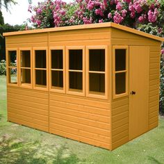 W x 10 ft. D Shiplap Pent Wooden Shed WFX Utility Installation Included: No Farmhouse Sheds, Farmhouse Design, Shiplap Cladding, Timber Boards, Metal Shed, Window Glazing, Bike Shed, Wooden Sheds