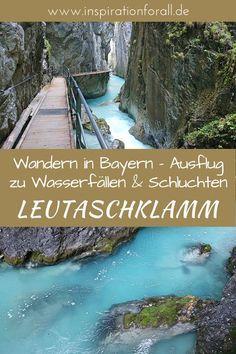 Hier findest du Tipps für deinen Urlaub in Bayern in wunderschöner Natur. Die Leutaschklamm ist ein ideales Ziel zum Wandern in atemberaubender Landschaft. Bilder von meiner Wanderung, Tipps zur Anreise und Beschreibung des Wanderweges gibt es auf inspirationforall.de. #wandern #bayern #urlaub #reisen #natur #leutaschklamm