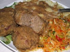 Rozpustne gotowanie: Kotlety mielone duszone we własnym sosie. Polish Recipes, Polish Food, Meatloaf, Steak, Cooking Recipes, Beef, Snacks, Dinner, House