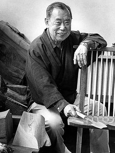 George Nakashima (1905-1990) - one of the most important furniture designers in America. His primary materials were natural.