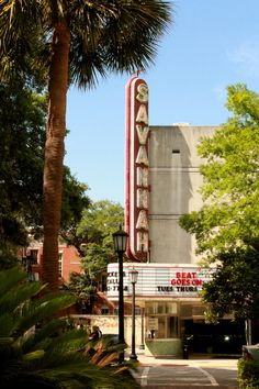 Savannah, Georgia - I'll have to check my pic and see what was on the marquee when Jeff and I were there.
