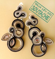 soutache earrings by caricatalia