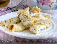 Маковые блинчики с рикоттой, медом и лимоном #едимдома #рецепт #готовимдома #кулинария #домашняяеда #блинчики #мед #лимон #мак