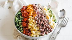 Chef Salad Recipes, Celery Recipes, Sprouts Salad, Brussel Sprout Salad, Roast Beef Salad, Homemade Thousand Island Dressing, Roast Duck, Meat And Cheese, All Vegetables