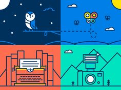 Dribbble - Campus Cup Odds and Ends by Dangerdom