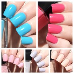 cat eyes & skinny jeans: nails inc. Coconut Brights Spring Summer Mini Gel Effect Collection Swatches + Review