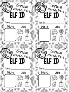 ELF APPLICATION, ELF ID CARDS, AND {EDITABLE} LETTER FROM SANTA - ELF FUN! - TeachersPayTeachers.com