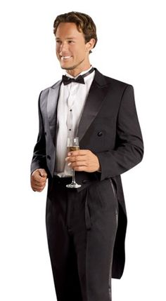 Men's Black Tailcoat with Matching Formal Trousers