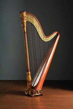 Double action pedal harp - fourchettes System France, Paris, Domeny - 1830ca