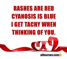 Rashes are red...