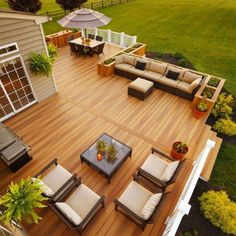 Adding Fiberon decking, such as these beautiful deck boards in Fiberon Ipe, can help you get a gorgeous, long-lasting deck