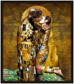 The Kiss (Klimt - Inspired Han / Leia) by Rabittooth.deviantart.com on @deviantART #starwars