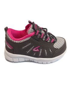 Another great find on #zulily! Gray & Pink Slip-On Sneaker #zulilyfinds
