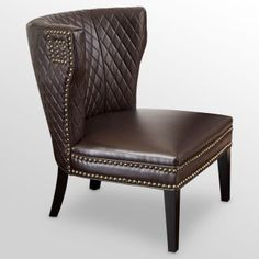 chocolate brown leather chair