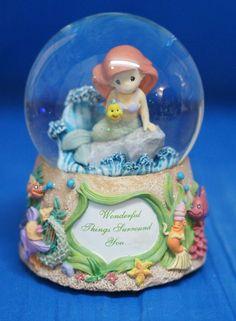 Ariel Wonderful Things Musical Snowglobe Disney Precious Moments Figurine 132108 #PreciousMoments #Snowglobes