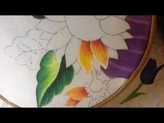 Pintura en tela rostro girasoles # 4 con cony - YouTube