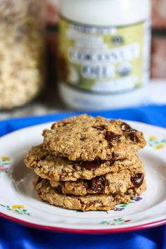 Almond Butter Chocolate Chip Cookies {gluten-free} by www.eatliverun.com #cookies