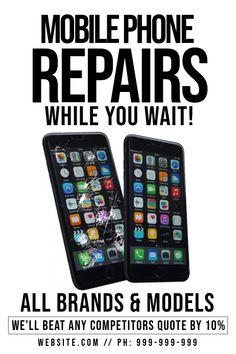 Mobile Phone Repair Poster