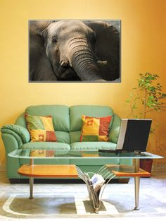 """GENUINE CANVAS PRINT WITH REAL OIL PAINT BRUSH STROKE FINISH.Size (inches):Single Panel 34"""" x 25.5"""" x 1/2"""".Price USA$75.00"""