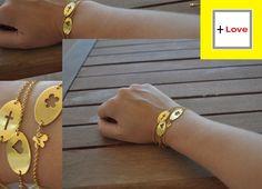 Bracelets, How To Make, Gold, Etsy, Shopping, Jewelry, Jewlery, Jewerly, Schmuck