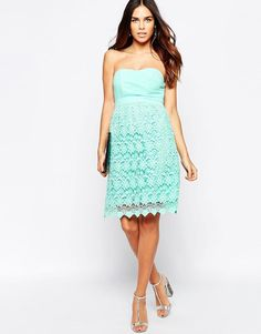 Traffic People | Traffic People Carry On Crochet Crusade Dress With Bandeau Top at ASOS