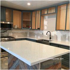 GroBartig Modern Compac Quartz Counter #quartz #modern #kitchens #miami