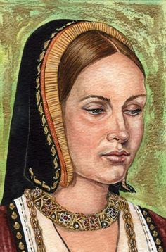 Katherine of Aragon by friend, mark Satchwill. This is my favorite of his versions of Katherine.