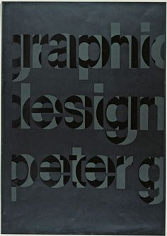 Peter Gee. Graphic Design Peter G. 1966