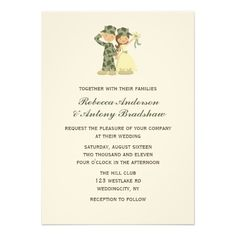 army wedding invitation | amazing ideas for a military themed, Wedding invitations